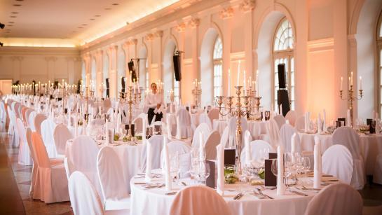 Festsaal der Großen Orangerie, romantische Hochzeitslocation in Berlin