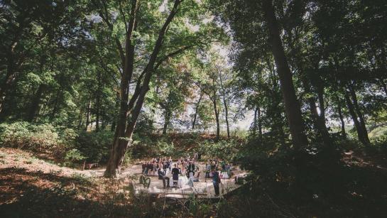 Trauung im Freien unter Bäumen